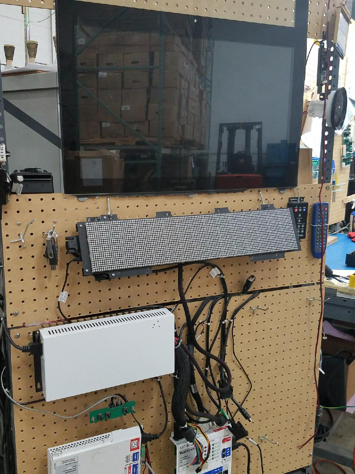 test fixture for digital signage repair and remanufacturing